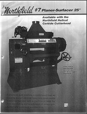 Northfield 7 Planer- Surfacer 25 Manual Parts List Pdf