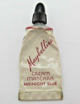 Vintage Maybelline Cream Mascara Midnight Blue Makeup Tube