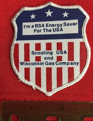 Bsa Patch Wisconsin Gas Company Energy Saver Boy Scouts Shield Bin G