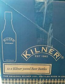 Set of 6 Kilner brewing bottles