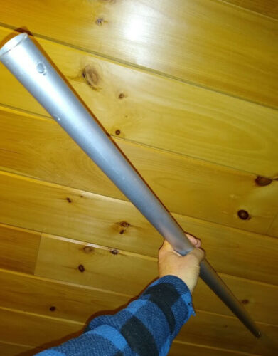 """46"""" Aluminum Round Tube - approx 1 1/4"""" O.D. , 1 """" I.D., ANODIZED!"""