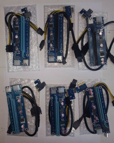 4PIN USB3.0 PCI-E Express 1x To 16x Extender Riser Card Adapter Power Cable USB