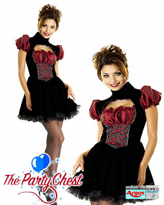 SEXY FRENCH MAID COSTUME Ladies Sassy Glamorous Maid Waitress Fancy Dress Outfit