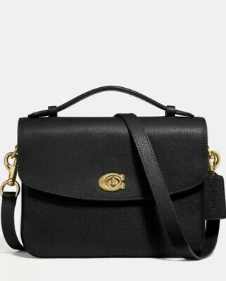 Polished Pebble (❤️Coach Cassie 68348Crossbody Black/Gold In Polished Pebble Leather )
