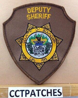 BOUNDARY COUNTY, IDAHO DEPUTY SHERIFF POLICE SHOULDER PATCH ID