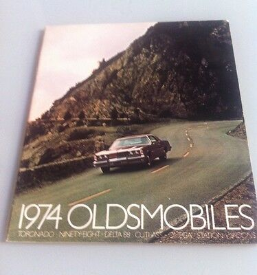 1974 74 Olds Oldsmobile Full Line Sales Brochure Toronado Delta 88 Wagon Cutlass