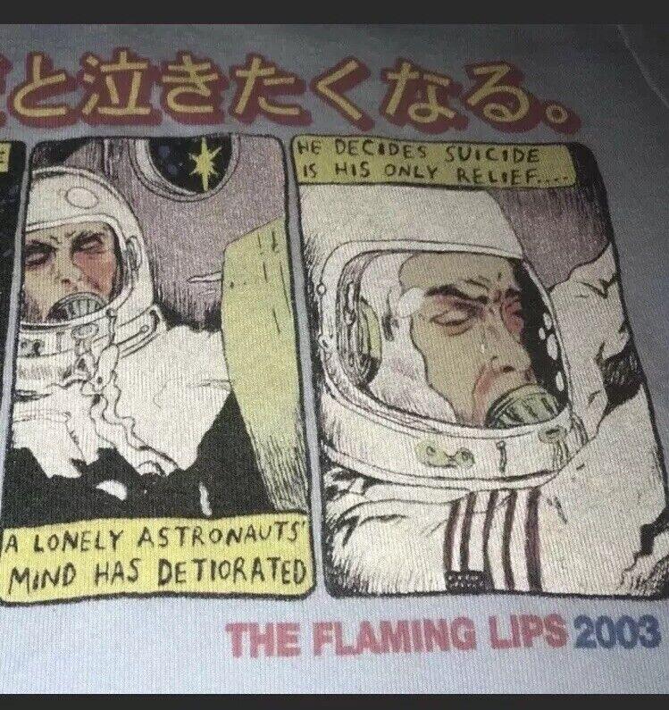 🤘🏼RARE 2003 Robotic Flaming Lips Souvenir Concert Tee💋 *Ships Free