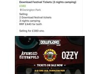 2 DOWNLOAD FESTIVAL TICKETS!