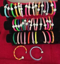 Joblot of 44 bracelets and Stand