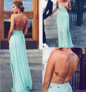 MINT GREEN PROM DRESS SIZE 1