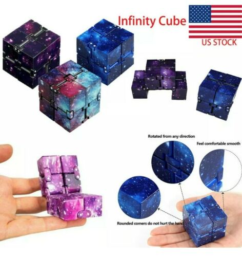 Infinity Cube Stress Fidget Sensory Toys Autism Anxiety Relief Kid
