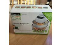 Prolectrix infra chef 12l digital halogen oven. New & boxed portable