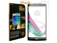 [2Pack] Screen Protector for LG G4 Tempered Glass Crystal Clear 9H Hardness Ultra-Thin 0.25mm