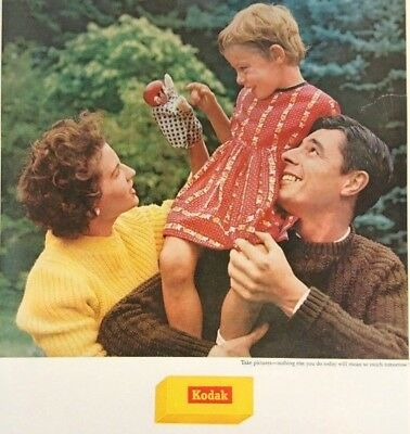 1961 Kodak Film Kodacolor Camera Original Vintage Print Ad