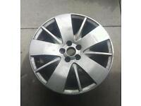 "Rover 75 17"" alloy wheel star spoke no tyre"