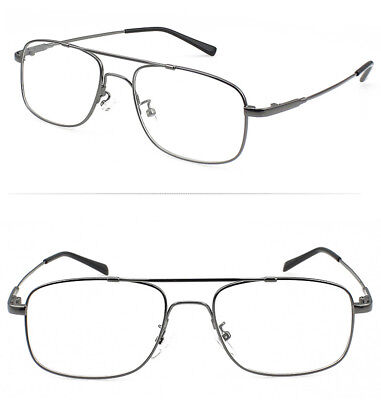 (Memory Titanium Alloy Full-flex Flexible Pilot Eyeglass Frame Optic Glasses Rx)