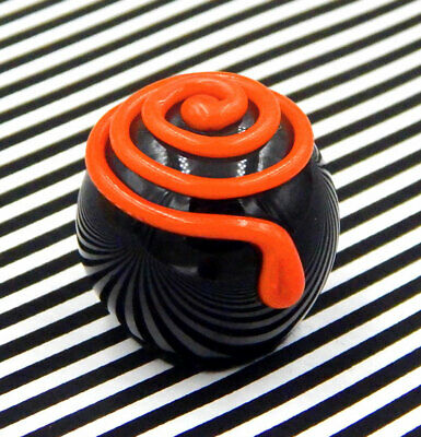 Hulet Glass Halloween Spiral Chocolate Candy Handmade (16-047KO)  - Chocolate Halloween