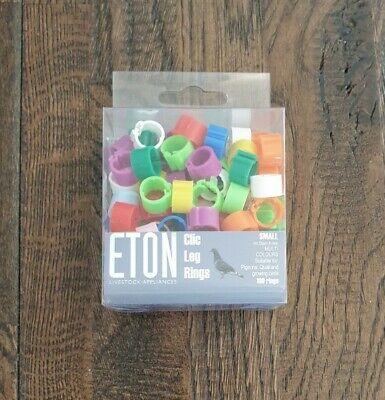 New ETON Clic clip leg rings, 8mm pidgeon/quail/growing poultry - 10 rings