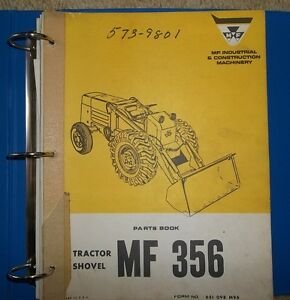 356 MASSEY TRACTOR SHOVEL PARTS BOOKS & TECHNICAL BOOKS, 4 TOTAL