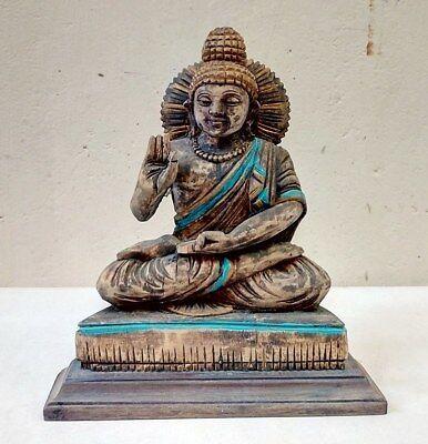 Vintage Tibetan Buddha Sculpture Statue Temple Yoga Thai Figurine Idol Rare