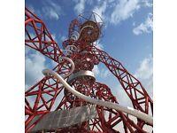 2 adult tickets - Arcelor Mittal Orbit Slide Saturday 30 July 2016 4.30pm at Olympic Stadium London