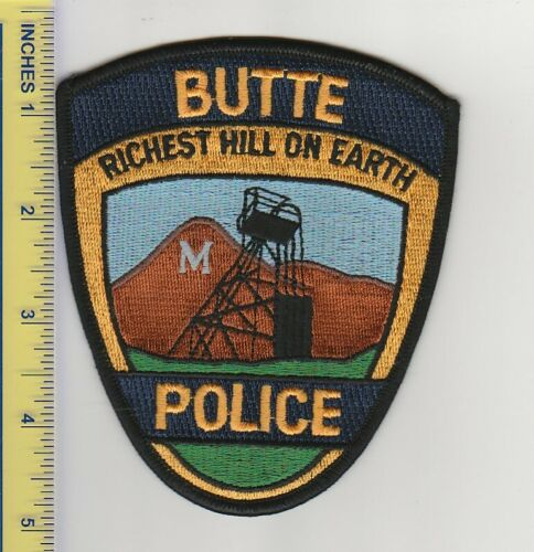 US Police Patch Butte Montana Police Department