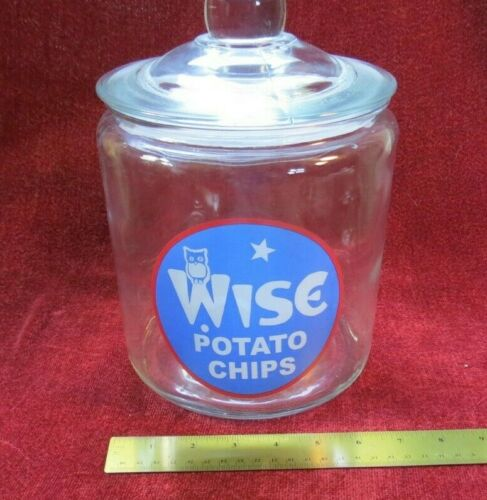 Wise Potato Chip Jar with Lid 10""