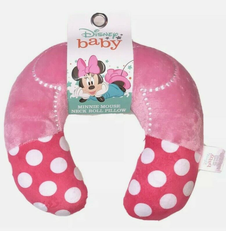 New Disney Baby Minnie Mouse Neck Roll Pillow Super Soft Travel/Home Pillow