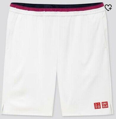 Roger Federer Uniqlo Tennis White Shorts Australian Open 2020 - M - BRAND NEW