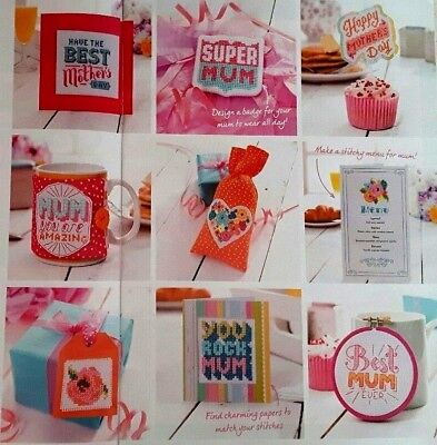 cross stitch chart - 50 mother's day gift ideas - from a magazine - Never used  - Mother Day Craft Ideas