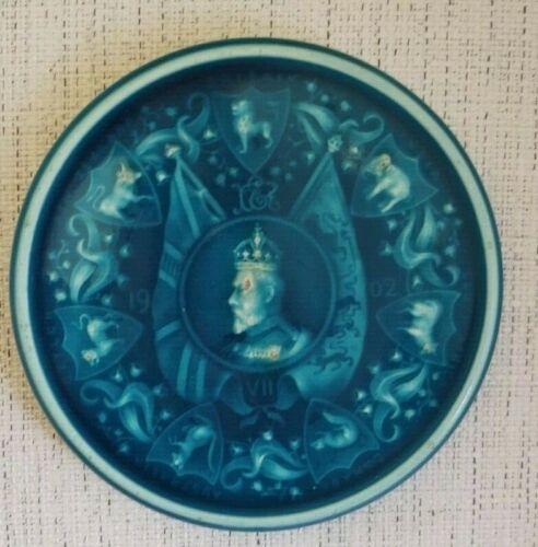 MInton Hollins & Co. 1902 Coronation of Edward VII commemorative teapot stand