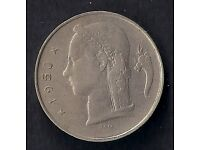 1950 ** BELGIUM 1 FRANC COPPER - NICKEL COIN * BAUDOUIN * EXCELLENT