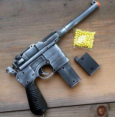 Steampunk Gun pistol  AIRSOFT SPRING BB mauser broomhandle c96 Zombie Vampire