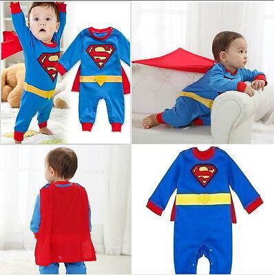 Superman Baby Jungen Body Kostüm Superheld Geschenk Geburt