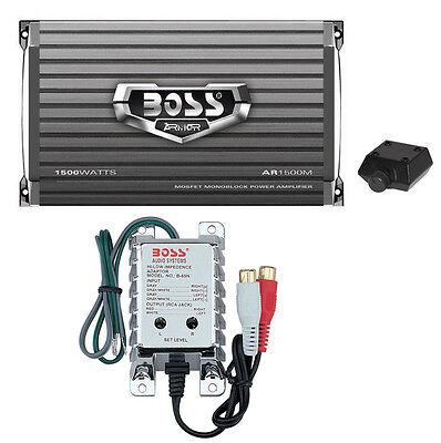 Boss Audio AR1500M 1500W MONO Car Amplifier Power Amp+Remote+High/Low Converter