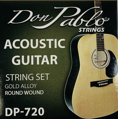 Don Pablo Acoustic Guitar Strings. Juego De Cuerdas De Metal Para Guitarra.DP720 Metal Guitar Strings