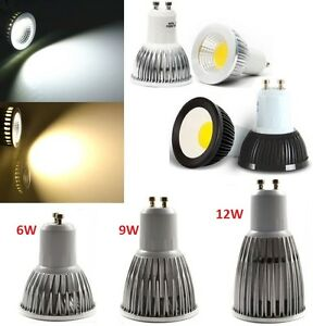 10X GU10 6W CREE COB LED Light Bulb Downlight lamps silver black Dimmable or not