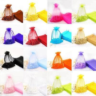 Mesh Gift Bags (100pc Organza Gift Bags Jewelry Candy Bag royal Wedding Gift Bags Mesh)