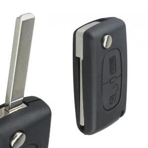 Remote Car Key Case Folding Fob Shell Housing 2 Button Replace for CITROEN C2 C3