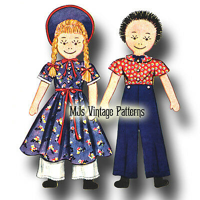 Floppy Rag Dolls ~ a Vintage 1930s Pattern