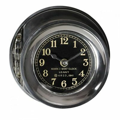 US Navy WWII Mark I Ship Deck Clock 6.25