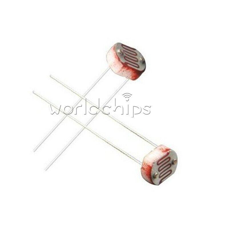 20PCS 5MM Photoresistor GL5537 LDR Photo Resistors Light-Dependent