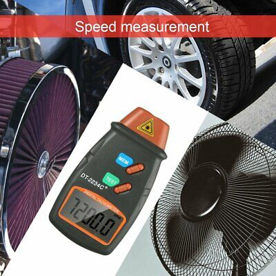 Digital Laser Photo Tachometer Non Contact RPM Tach Meter Motor Speed Gauge HW