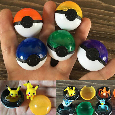 5 pcs/lot Pokemon Ball With Action Figure Pokeball Pet Game Ball Kid Gift Toy