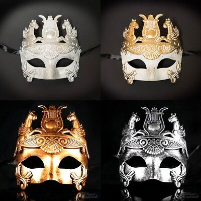 Mens New Greek Roman Warrior Gladiator Hercules Venetian Theatre Masquerade Mask - Man Masquerade Masks