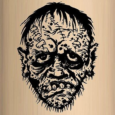 Zombie Monster Face - Halloween, Popular Characters, Wall Decal