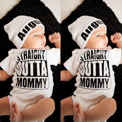 Newborn Toddler Infant Baby Boys Clothes Romper Bodysuit Pants Leggings Set