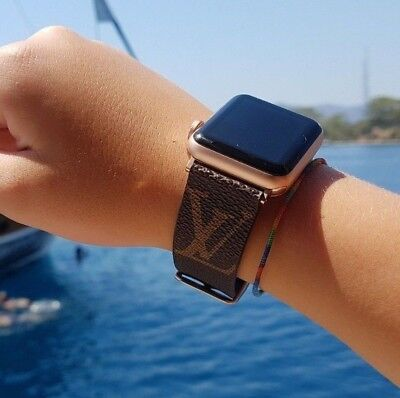 Handmade Design  LV apple watch band 38mm/42mm, iwatch strap,