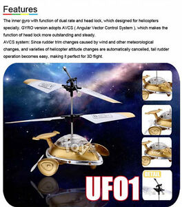 RC RTF 3.5CH Gyro Micro UFO Helicopter With Cool Light BRAND NEW
