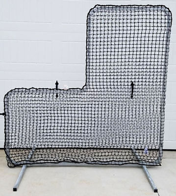 eb71c34bfd0 L-Screen 6  x 6  Professional Baseball Safety Frame   Heavy 60ply Net L  Screen